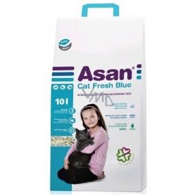 Asan Fresch Blue Bio stelivo neparfumované stelivo pre mačky a fretky 10l