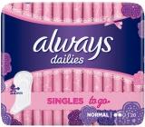 Always Dailies Singles To Go Normal slipové intímne vložky 20 kusov