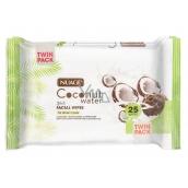 Nuage Skin Coconut Water vlhčené odličovacie obrúsky 25 kusov