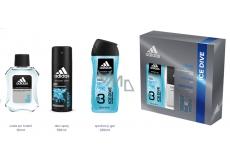 Adidas Ice Dive voda po holení 50 ml + sprchový gél 250 ml + dezodorant sprej 150 ml, kozmetická sada