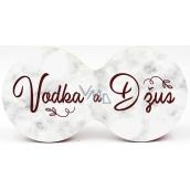 Nekupto Dvojtácek korkový podtácek Vodka a džús 19 x 9,5 x 0,3 cm