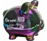 Albi Pokladnička prasiatko dúhové Na nové auto 15 cm x 12,5 cm x 13 cm