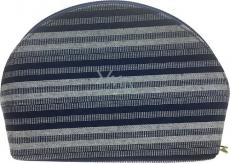 Etue Látková tmavě modro-bílý proužek 15 x 10 x 5 cm 70390