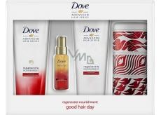 Dove Advanced vlasový šampón 250 ml + kondicionér 250 ml + olejové sérum 50 ml + plechovka, kozmetická sada