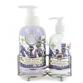 Michel Design Works Levanduľa, rozmarín peniace tekuté mydlo na ruky 530 ml + mlieko na ruky a telo 236 ml, kozmetická sada