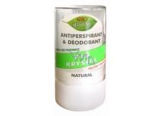 Bion Cosmetics Bio Natural Deo Krystal antiperspirant dezodorant kolíček unisex 120 g kamenec má mnoho využití: po holení, uštipnutie hmyzom, proti poteniu, popáleniu pokožky, zastavuje krvácanie