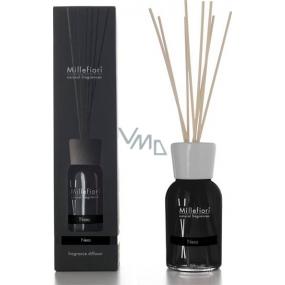Millefiori Milano Natural Nero - Čierna Difuzér 250 ml + 8 stebiel v dĺžke 30 cm do stredne veľkých priestorov vydrží minimálne 3 mesiace