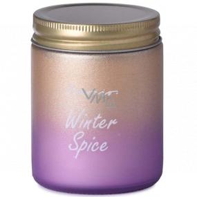 Emóciám Winter Spice - Vianočné korenia vonná sviečka sklo s plechovým viečkom 74 x 95 mm