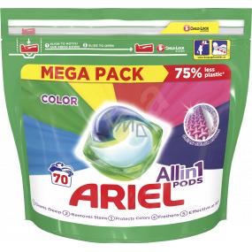 Ariel All in 1 Pods Color gélové vankúšiky na farebnú bielizeň 70 kusov x 35 ml