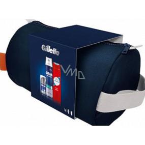 Gillette Series Protection pena na holenie 250 ml + Hydrates & Soothers 3v1 hydratačný krém po holení 50 ml + Old Spice Whitewater sprchový gél 250 ml + etue, kozmetická sada