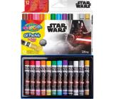 Colorino Olejové pastelky Star Wars okrúhle 12 farieb