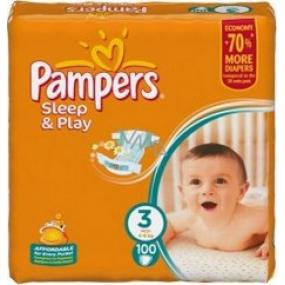 Pampers Sleep & Play 3 Midi 4 - 9 kg plienkové nohavičky 100 kusov