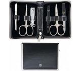 Kellermann 3 Swords Luxusná manikúra 6 dielna Articial Leather Black z vysoko kvalitnej umelej kože Black 5217 PN