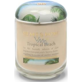 Heart & Home Tropická pláž Sójová vonná sviečka strednej horí až 30 hodín 110 g