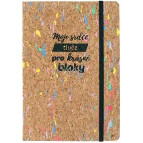 Albi Korkoblok farebný, linajkový Moje srdce 80 strán 14,7 x 21 x 1,5 cm