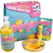 Regina Bubble Gum sprchový gél s žuvačkovou vôňou 500 ml + Bubble Gum jelení loj s žuvačkovou vôňou 4,5 g + Blchy tradičné hra pre deti, kozmetická sada