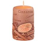 Emóciám Škorica Cinnamon vonná sviečka valec 50 x 80 mm