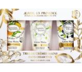 Jeanne en Provence Jasmin Secret krém na ruky + Verveine Agrumes krém na ruky + Divine Olive krém na ruky 3 x 75 ml, kozmetická sada