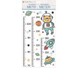Samolepky na stenu detský meter Vesmír, do 160 cm