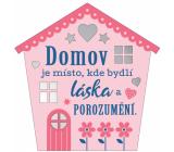Albi Závesná plaketka domček Domov 9 x 10 cm
