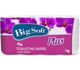 Big Soft Plus parfémovaný toaletní papír 2 vrstvý 160 útržků 7 + 1 kus