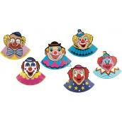 Klobúčik karnevalový s klaunom 6 kusov v balení