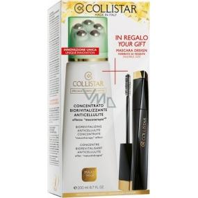 Collistar Biorivitalizační koncentrát proti celulitidě 200 ml + řasenka Design 11 ml, dárková sada
