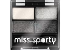 Miss Sporty Studio Colour Quattro Eye Shadow oční stíny 404 Real Smoky/Smoky Black 3,2 g