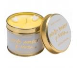 Bomb Cosmetics Biely jantár a pižmo Vonná prírodné, ručne vyrobená sviečka v plechovej dóze horí až 35 hodín