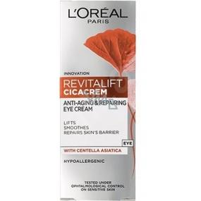 Loreal Paris Revitalift Cica Cream oční krém proti stárnutí, redukci vrásek a zpevnění pleti 15 ml