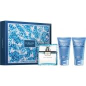 Versace Eau Fraiche Man toaletní voda 50 ml + sprchový gel 50 ml + balzám po holení 50 ml, dárková sada