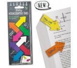 If Sticky Highlighter Tabs Farebné nalepovacie zvýrazňovacie záložky šípky 160 kusov
