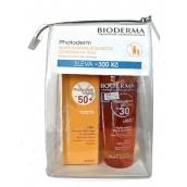Bioderma Photoderm SPF30 Bronz suchý olej pre predĺženie opálenia 200 ml + Max Photoderm Max SPF50plus krém 40 ml + etue, kozmetická sada