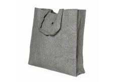 Albi Eko taška vyrobená z pratelného papiera skladacie - sivá 37 cm x 37 cm x 9,5 cm