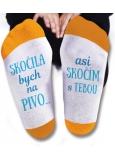 Nekupto Rodinné darčeky s humorom Ponožky Skočila by som na pivo, veľkosť 39-42