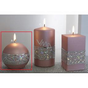 Lima Hologram sviečka ružová guľa 100 mm 1 kus
