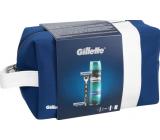 Gillette Mach3 holiaci strojček + náhradné hlavice 2 kusy + Comfort gél na holenie 200 ml + etue, kozmetická sada
