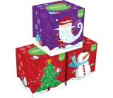 Kleenex Collection hygienické papierové vreckovky 3 vrstvy box 20 x 20 cm 56 kusov