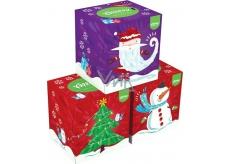 Kleenex Collection hygienické papírové kapesníky 3 vrstvy box 20 x 20 cm 56 kusů