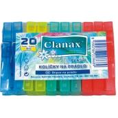 Clanax Big Štipce na bielizeň plastové 20 kusov