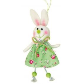 Zajac zelený v kvetované sukni 15 cm