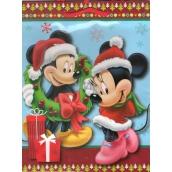 Nekupto Darčeková papierová taška strednej 23 x 18 x 10 cm Mickey Mouse vianočné 1189 WLGM