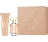 Hugo Boss Boss The Scent parfémovaná voda pro ženy 30 ml + tělové mléko 100 ml, dárková sada