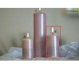 Lima Stuha sviečka svetlo ružová valec 60 x 120 mm 1 kus