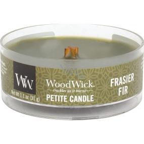 Woodwick Frasier Fir - Fraserova jedľa vonná sviečka s dreveným knôtom petite 31 g