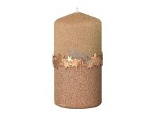 Arome Hviezdny pásik sviečka zlatá valec 60 x 120 mm 260 g