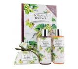 Bohemia Gifts Botanica Chmeľ a obilia sprchový gél 200 ml + šampón 200 ml + mydlo 100 g, kniha kozmetická sada