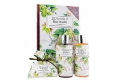 Bohemia Gifts & Cosmetics Botanica Chmeľ a obilia sprchový gél 200 ml + šampón 200 ml + mydlo 100 g, kniha kozmetická sada