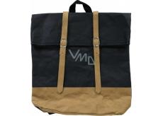 Albi Eko batoh s popruhmi vyrobený z pratelného papiera Čierny 38 x 36 x 9 cm