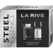 La Rive Steel Essence toaletná voda pre mužov 100 ml + deodorant sprej 150 ml, darčeková sada